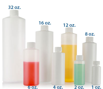 8 oz HDPE CYLINDERS - COSMETIC SHOULDER 24/410 in White
