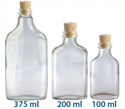 CORKED GLASS FLASK BOTTLES