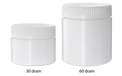 Double Shell Child Resistant Jars White BOTTLES