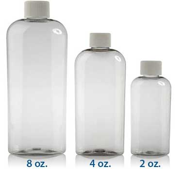 ELLIPSE OVALS CLEAR -  PET BOTTLES