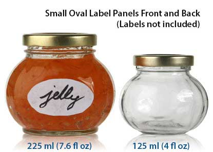 FACETED ROUND JARS - GLASS BOTTLES