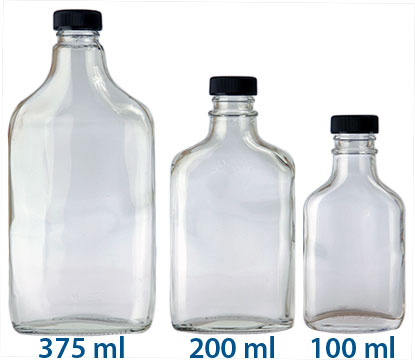 200 ml FLASKS 28/KPP in Clear