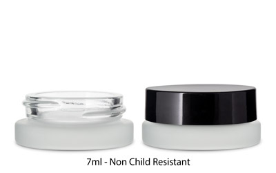 THICK WALL GLASS CONCENTRATE JARS - NOT CR - FROSTED BOTTLES