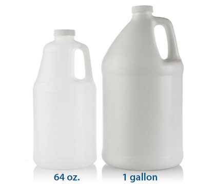 1 gal HDPE HANDLED ROUND JUGS 38/400 in Natural