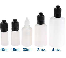 4 oz LDPE Dropper bottles 14/CRTE in Natural