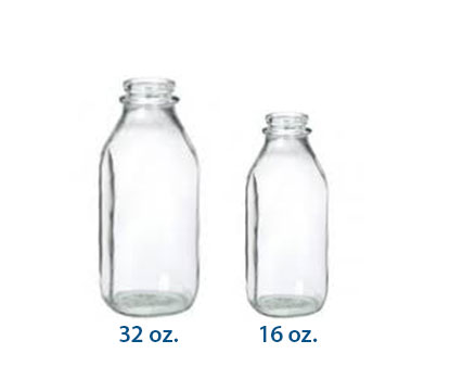 GLASS MILK BOTTLES - REFILLABLE BOTTLES