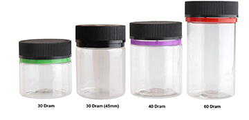 CHILD RESISTANT TAMPER EVIDENT STRAIGHT SIDED  - CLEAR BOTTLES