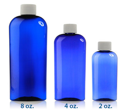 ELLIPSE OVALS COBALT BLUE - PET BOTTLES