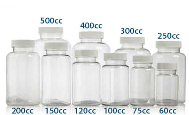 400 cc PET PHARMACEUTICAL ROUNDS 45/400  in Clear