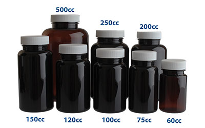 120 cc PET PHARMACEUTICAL ROUNDS 38/400  in Amber