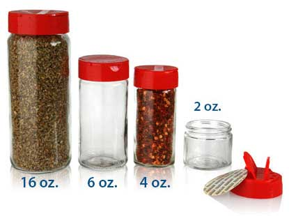SPICE JARS - GLASS BOTTLES