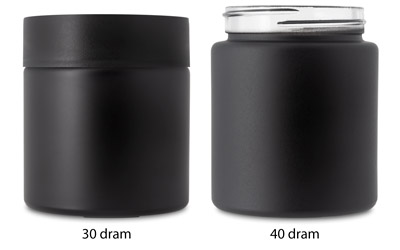 Straight Sided Jars - Child Resistant - Matte Black BOTTLES