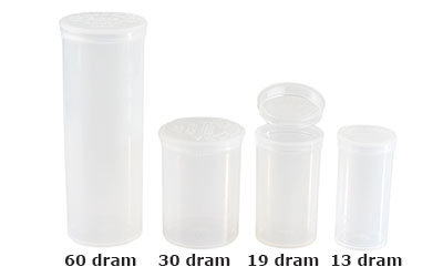 POP TOP VIALS - CLEAR - USA BOTTLES
