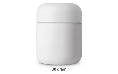 Heavy Weight Cosmetic Round Base Jars - CHILD RESISTANT - Matte White BOTTLES