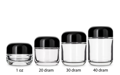Heavy Weight Cosmetic Round Base Jars CHILD RESISTANT BOTTLES