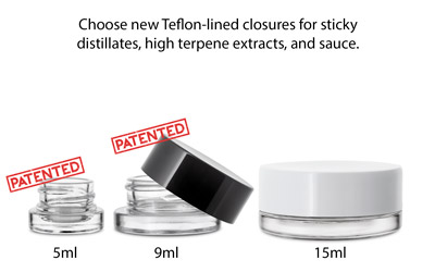 THICK WALL GLASS CONCENTRATE JARS - CHILD RESISTANT - GLASS (Patent# D781,151, D797,559) BOTTLES