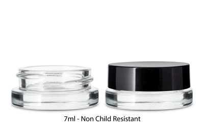 THICK WALL GLASS CONCENTRATE JARS - NOT CR CLEAR BOTTLES