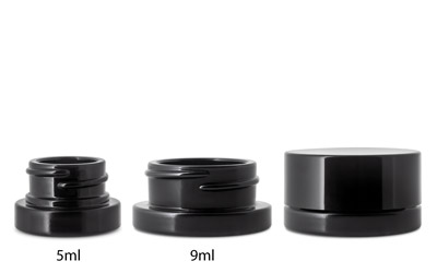 CHILD RESISTANT THICK WALL BLACK CONCENTRATE JARS (Patent# D781,151, D797,559) BOTTLES