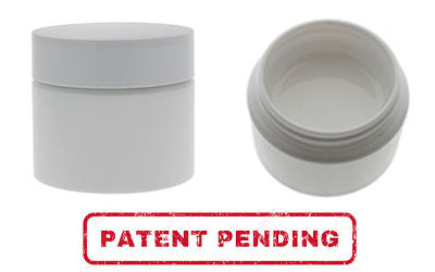 1 Gram Double Shell Jars (Patent Pending) - WHITE BOTTLES