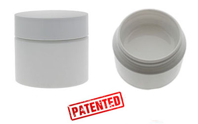 1 Gram Double Shell Jars  - WHITE (Patent #D862,233 S) BOTTLES