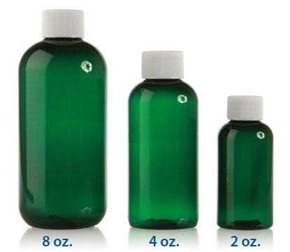 BOSTON ROUND - GREEN - PET BOTTLES