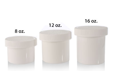 1/2 oz. AIR-TIGHT OPAQUE CHILD RESISTANT JARS BOTTLES