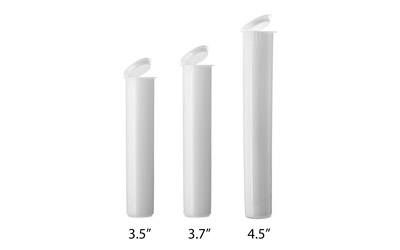 J TUBES - DOOB TUBES CHILD RESISTANT - WHITE - USA BOTTLES