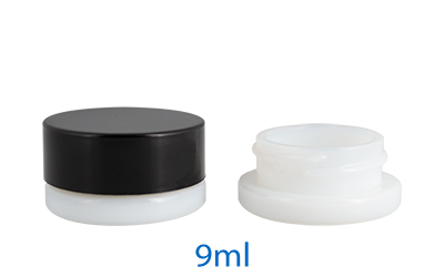THICK WALL GLASS CONCENTRATE JARS - CHILD RESISTANT OPAL (WHITE) (PATENT# D781,151, D797,559) BOTTLES