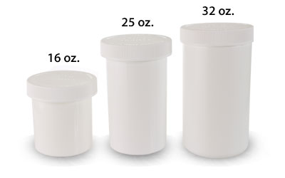 32 oz -  Ounce Size Jars 89/400 in White