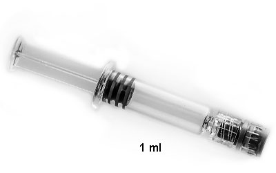 Glass Syringe with luer lock tip BOTTLES