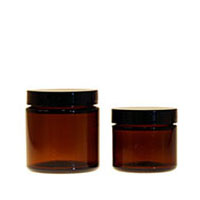 Amber Straight Sided Jars