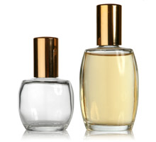 COSMETIC OVALS - GLASS BOTTLES