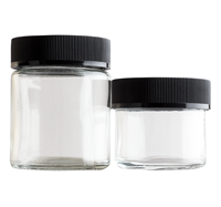 Glass Straight Sided Jars - Child Resistant BOTTLES