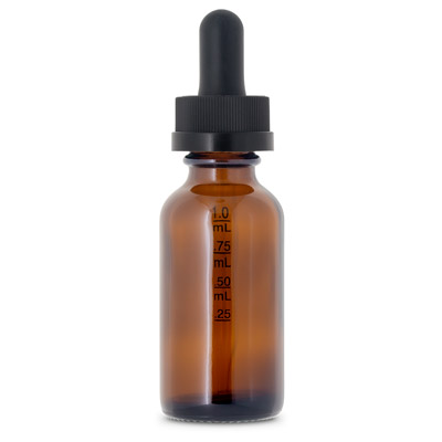 GLASS DROPPER TINCTURE BOSTON ROUNDS AMBER