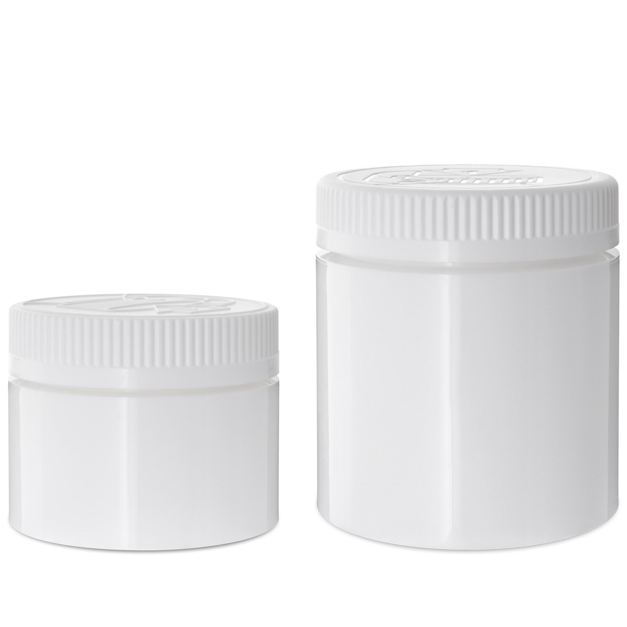 Double Shell Child Resistant Jars White