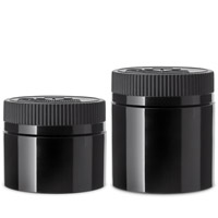 Double Shell Child Resistant Jars Black