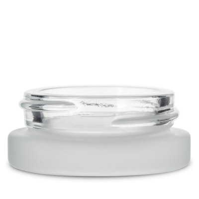 THICK WALL GLASS CONCENTRATE JARS - NOT CR - FROSTED