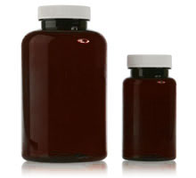 PHARMACEUTICAL ROUNDS AMBER - PET BOTTLES