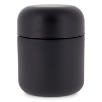 ROUND BASE GLASS DESIGNER JARS CHILD RESISTANT - MATTE BLACK
