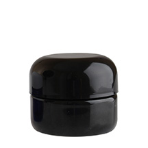 ROUND BASE PET DESIGNER JAR CHILD RESISTANT - BLACK