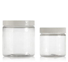 STRAIGHT SIDED PLASTIC JARS - CLEAR PET