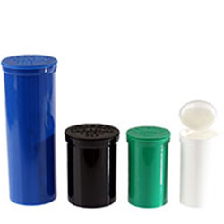 POP TOP VIALS -  DISPENSARY ASSORTMENT - COLOR CODED SIZES - USA