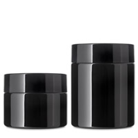 PET STRAIGHT SIDED CHILD RESISTANT JARS AIRTIGHT BLACK PET