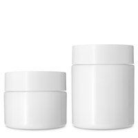 STRAIGHT SIDED PET CHILD RESISTANT JARS AIRTIGHT OPAQUE WHITE