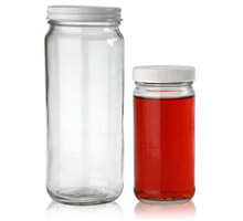 WIDE MOUTH CYLINDER (PARAGON) JARS - GLASS BOTTLES