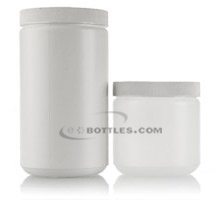 WIDE MOUTH STRAIGHT SIDED PLASTIC JARS - HDPE