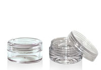 CONCENTRATE JARS - CLEAR ACRYLIC WITH CLEAR LIDS BOTTLES