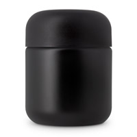 Heavy Weight Cosmetic Round Base Jars - CHILD RESISTANT- Matte Black