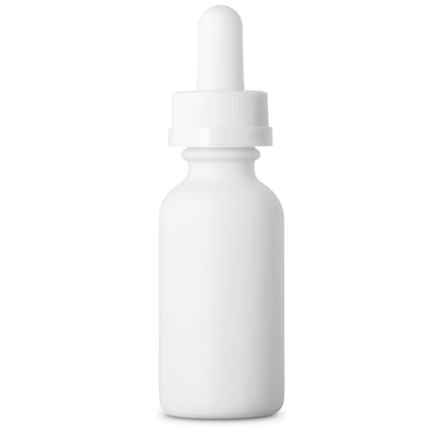 ELIQUID DROPPER BOTTLES CHILD RESISTANT - WHITE (MATTE) BOTTLES