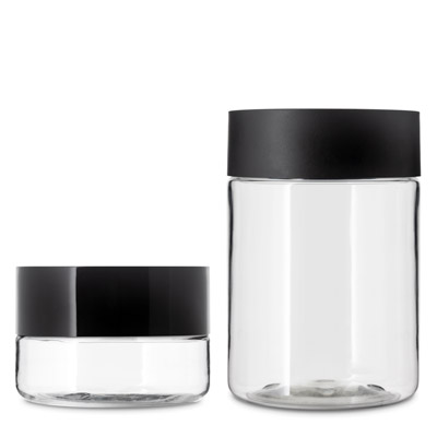 66MM STRAIGHT SIDED CHILD RESISTANT PET JARS - CLEAR